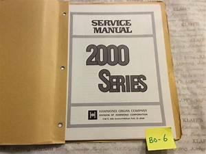 Hammond Organ Technical Service Manual 2000 Series Guide