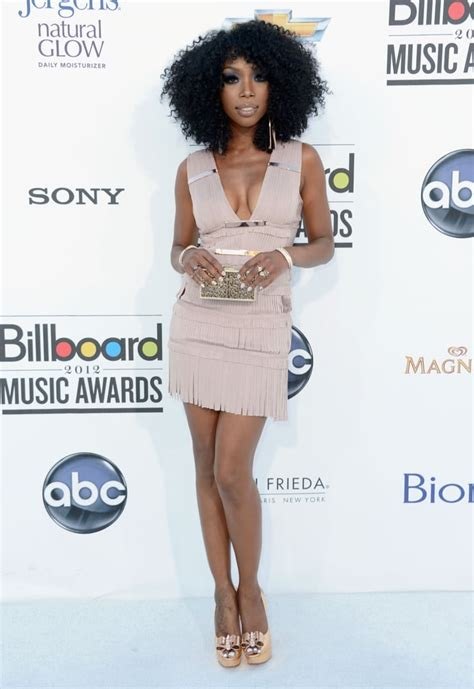 brandy norwood sexy brandy norwood kept it short and sexy in a nude toned