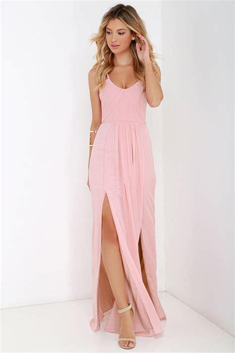 light blush pink dress bariano dress maxi dress blush pink gown 295 00