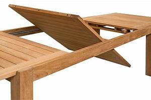 Table de jardin de grande taille en teck massif avec rallonge 220/340 cm, Liverpool La Galerie