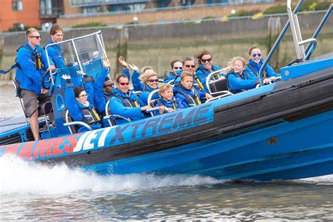 thames jet boat rush   boating  london virgin