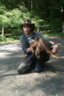 Coyote Peterson w/ snapping turtle   at Blendon Woods Park ...