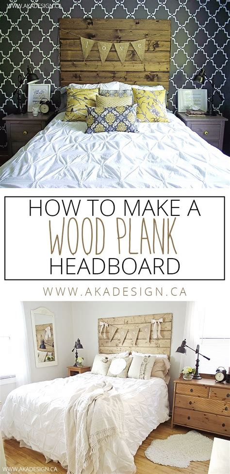 How To Make A Cheap Headboard by How To Make A Wood Plank Headboard Best Diy