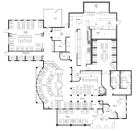 Floor Layouts by Restaurant Layout Home Floorplans Commercial