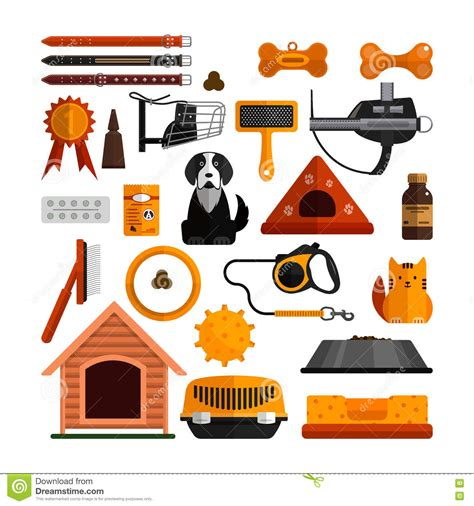 pets vector icons cats and dogs elements vector