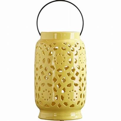 Lantern Ceramic Candle Holders Handle Wayfair Yellow