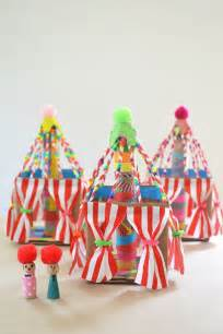colorful cardboard circus tents   delicious  craft