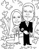 Coloring Anniversary Couple Pages Cartoon Booth Alternative Cartoons Gift Caricatures Library Popular sketch template