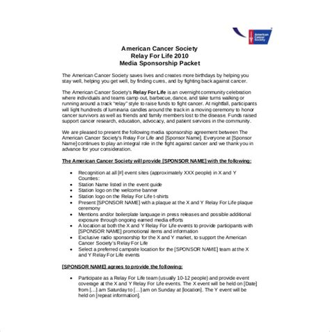 sponsorship agreement template sponsorship agreement template 10 free word pdf documents free premium templates