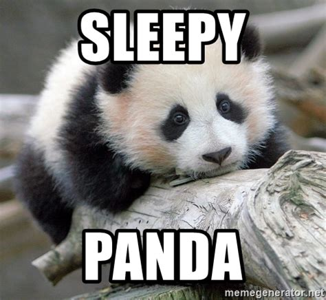 Sleepy Meme - sleepy panda sad panda meme generator