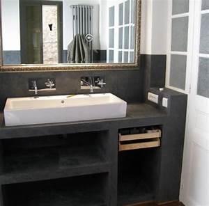 salle de bain beton cire recherche google salle de With meuble salle de bain beton cellulaire