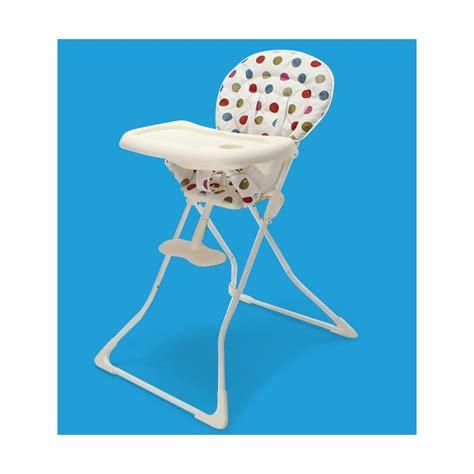 chaise haute pliable chaise haute bébé pliable à pois