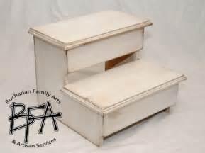 xl size step stool poplar solid hardwood wood kitchen