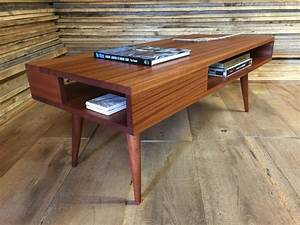 thin man mid century modern coffee table with storage With mid century coffee table with storage