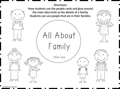 kindergarten family tree worksheets my family tree