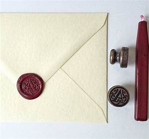 monogram initial brass wax seal by stomp stamps With letter wax and stamp