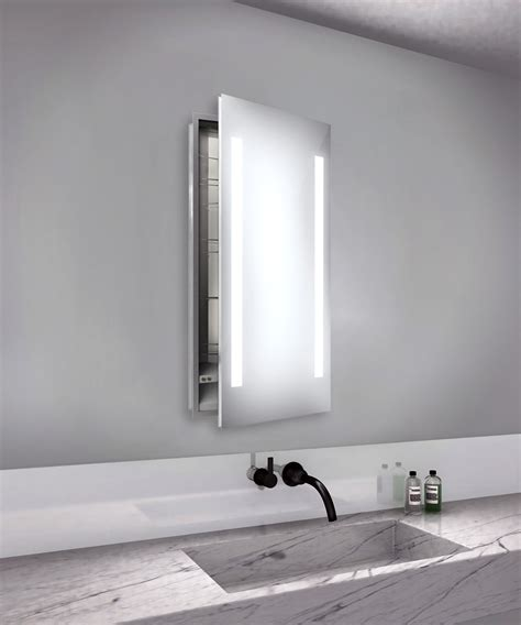 led lighted recessed medicine cabinet right recessed medicine cabinet by electric mirror asc1940