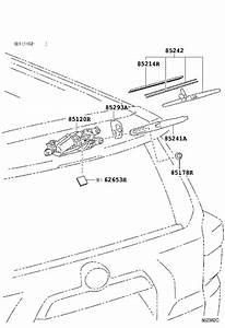 2015 Toyota 4runner Back Glass Wiper Blade  Rear