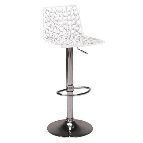meuble bas cuisine 50 cm largeur tabouret de bar en polycarbonate coque ajourée hauteur 82