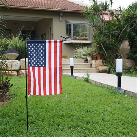 garden flags pole mini iron flag stand holder for yard