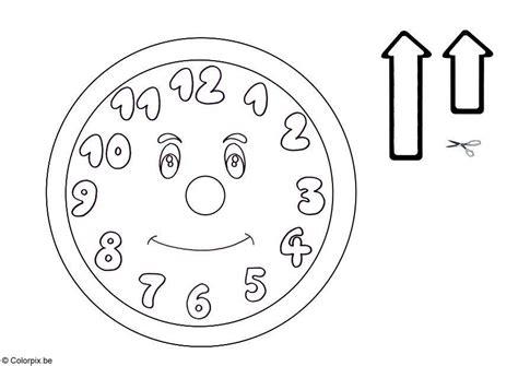 dibujo para colorear reloj 5761