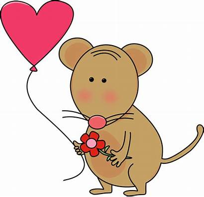 Valentine Clip Clipart Mouse Valentines Heart Balloon