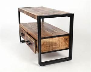 Möbel Im Industriedesign : fersehschrank tv lowboard aus massivholz im industriedesign mit zwei schubladen sideboards ~ Orissabook.com Haus und Dekorationen