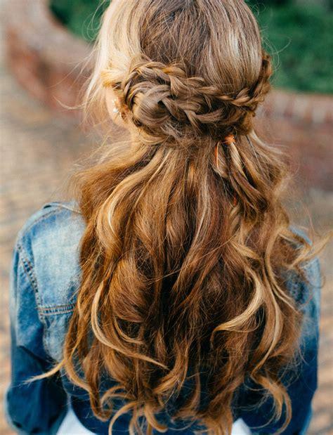 17 Peinados De Novia Cabello Suelto Con Trenza  El Blog