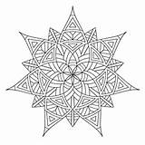 Coloring Pages Geometric Printable Adults sketch template