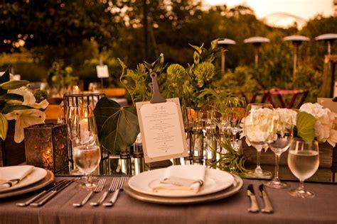 wedding reception table decorations outdoor wedding reception greenery as table decor onewed