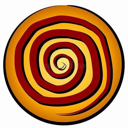 Spiral Circle Pattern Icon Symbol Gold Ancient