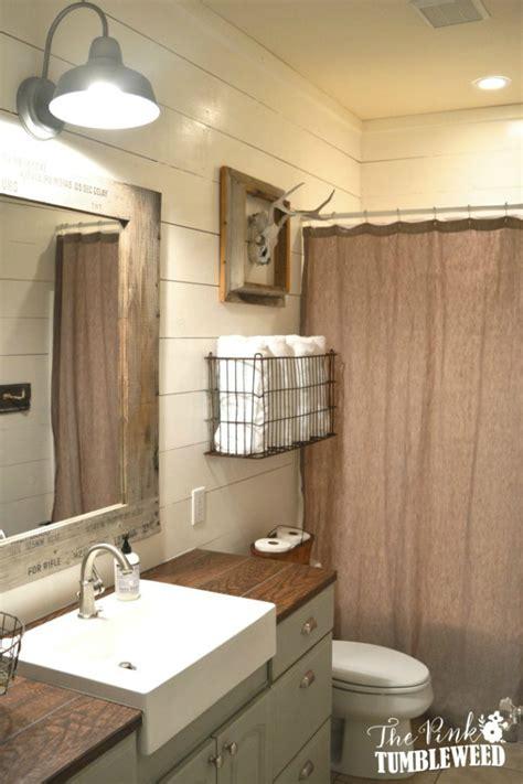 farm style bathroom 20 best farmhouse bathrooms to get that fixer upper style