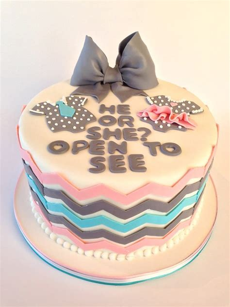 Baby Gender Reveal Cake Idea