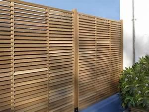 Panneau En Bois Brise Vue : brise vue bois brise vue noir idmaison ~ Dailycaller-alerts.com Idées de Décoration