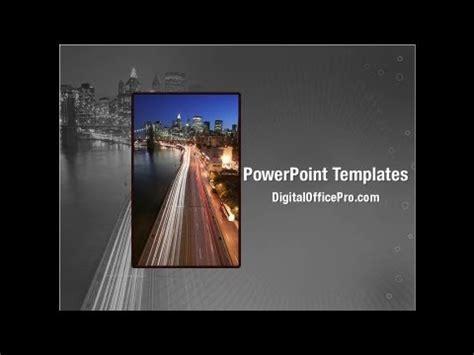 york brooklyn bridge powerpoint template backgrounds