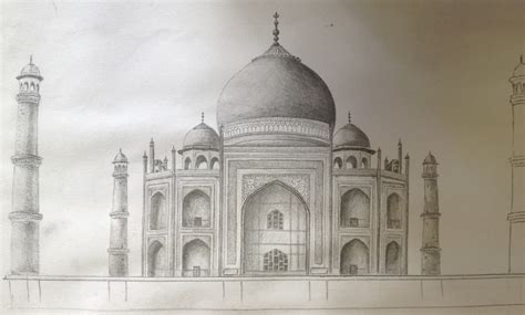 How To Draw A Taj Mahal Pencil Sketch With Images Pencil