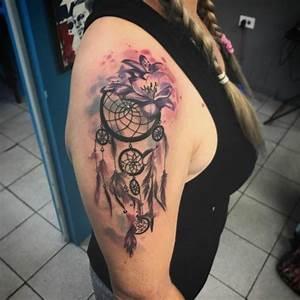 Tatouage Capteur De Rêve : tatouage attrape r ve 100 designs myst rieux et leurs significations ~ Melissatoandfro.com Idées de Décoration
