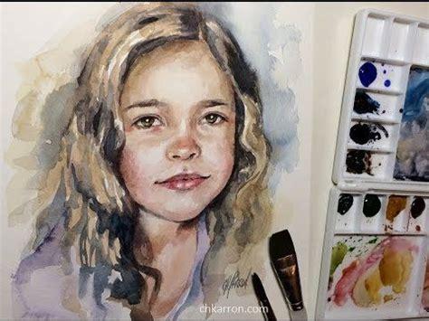 quick watercolor portrait painting demo  chkarron