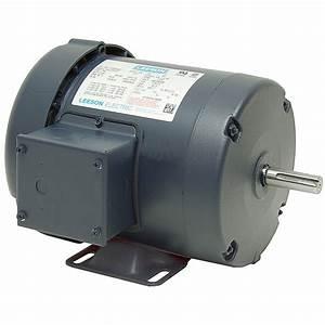 3  4 Hp 1800 Rpm 115  230 Volt Ac 56c Tefc Leeson Motor W