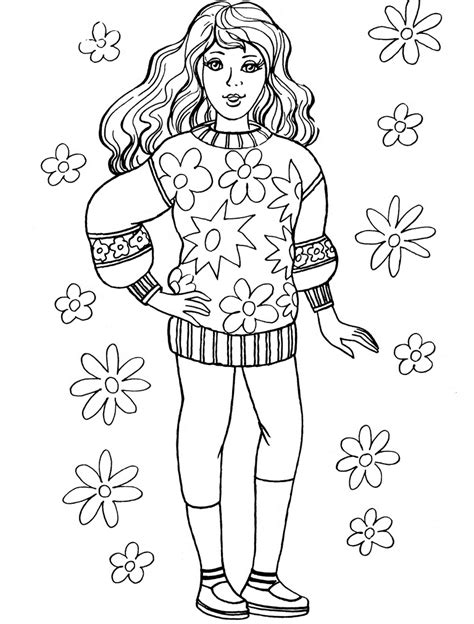 coloring pages  girls az coloring pages