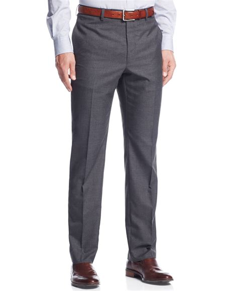 mens light grey dress pants lyst calvin klein light grey plaid slim fit dress pants