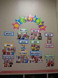 Classroom Birthday Wall Ideas
