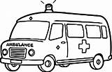 Ambulance Coloring Pages Printable Truck sketch template