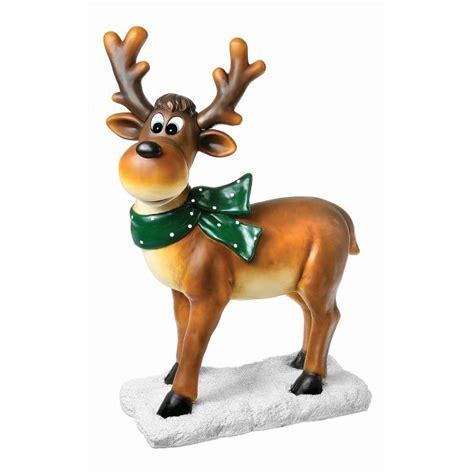 comical reindeer standing statue reindeer statue