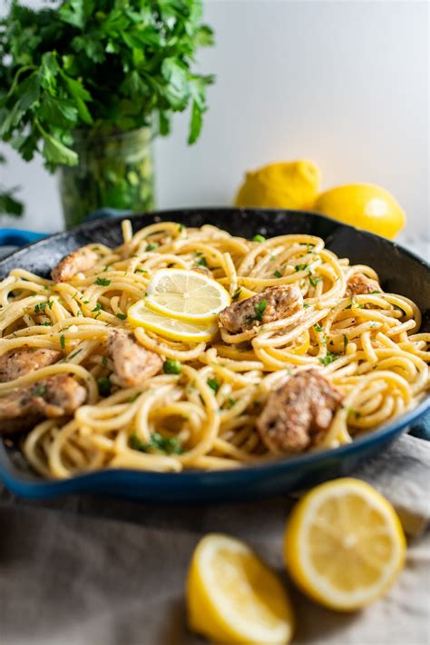 Spicy Chicken & Bucatini Alfredo - A Dash of Ginger