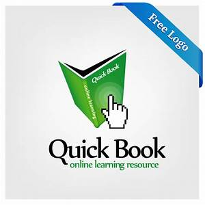 Free Vector Quick Book Online Learning Logo Download In ...