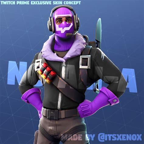 twitch prime exclusive skin concept fortnitebr