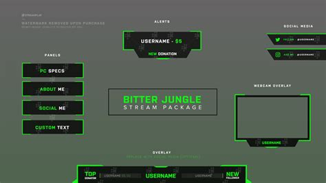 Twitch Panel Template Twitch Panels Templates Premade Images For Your