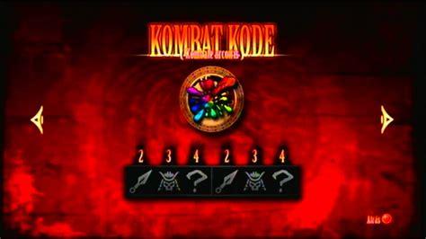 Mortal Kombat 9 - Todos los Kombat Kodes - YouTube