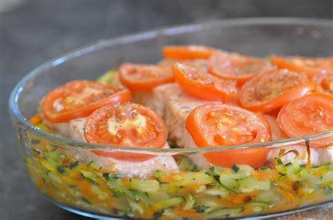 recette de cuisine saumon pavé de saumon sur lit de légumes cuisine avec du